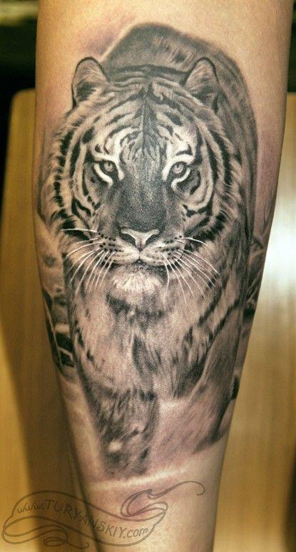 Tiger Tattoos On Calf Tiger Tattoo Tiger Tattoo Design White