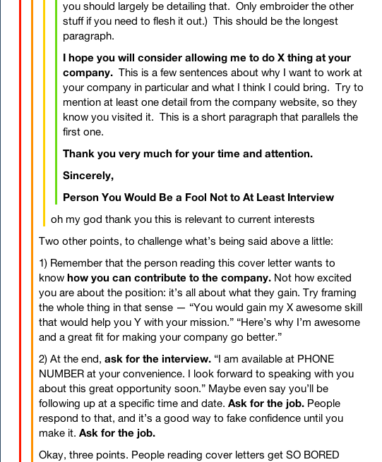 Cover Letters According To Tumblr Imgur Job Interview Tips Cover Letter Template Jobs For Teens