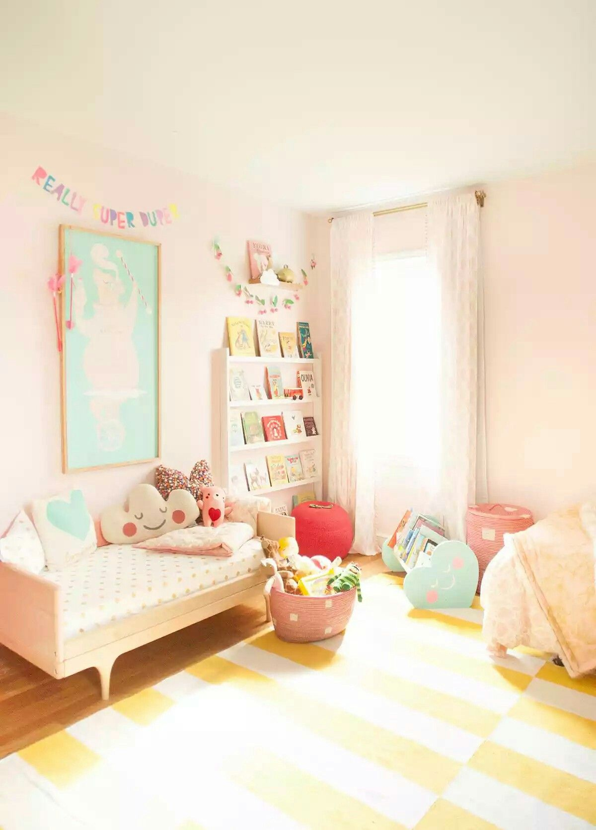 Bedroom Pink And Yellow Shared Girls Room Girls Room Design