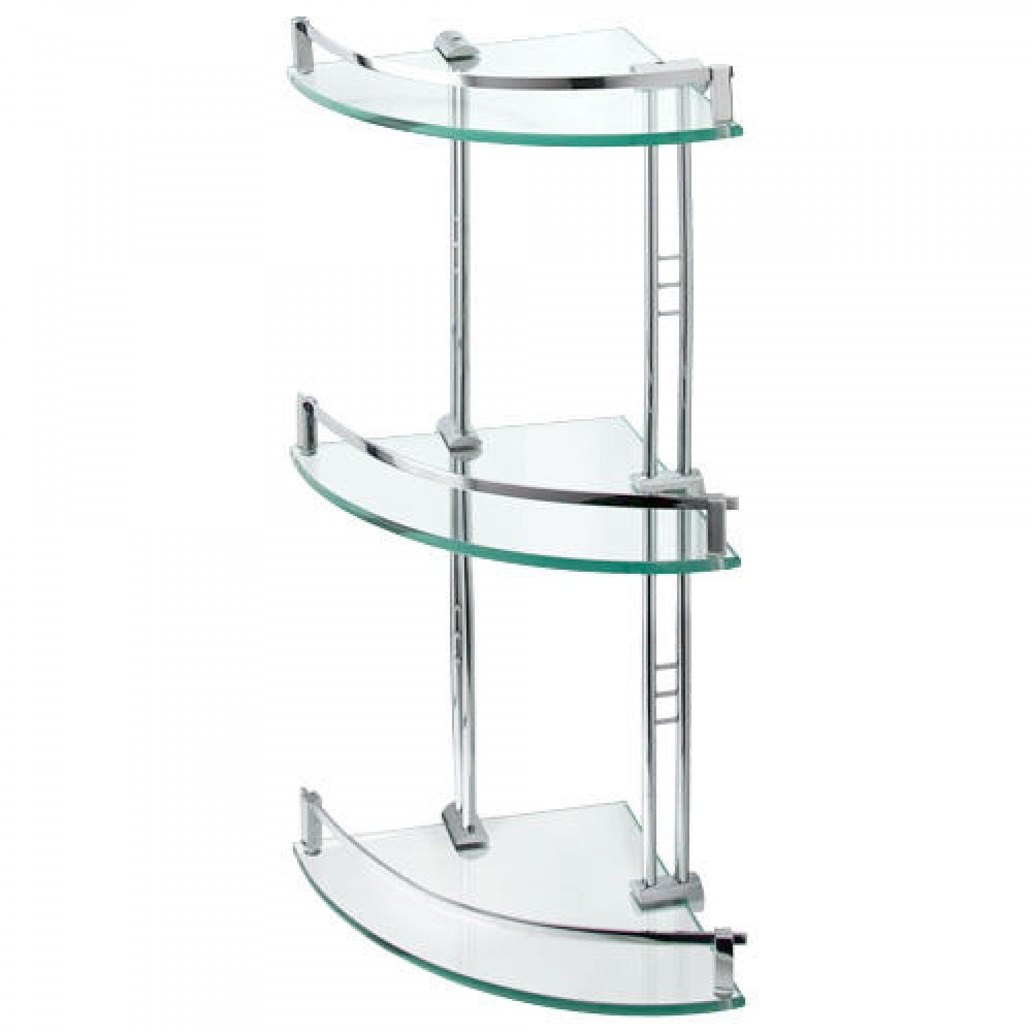 Engel Tempered Glass Corner Shelf Three Shelves Glass Corner Shelves Glass Shelves Kitchen Corner Shelves