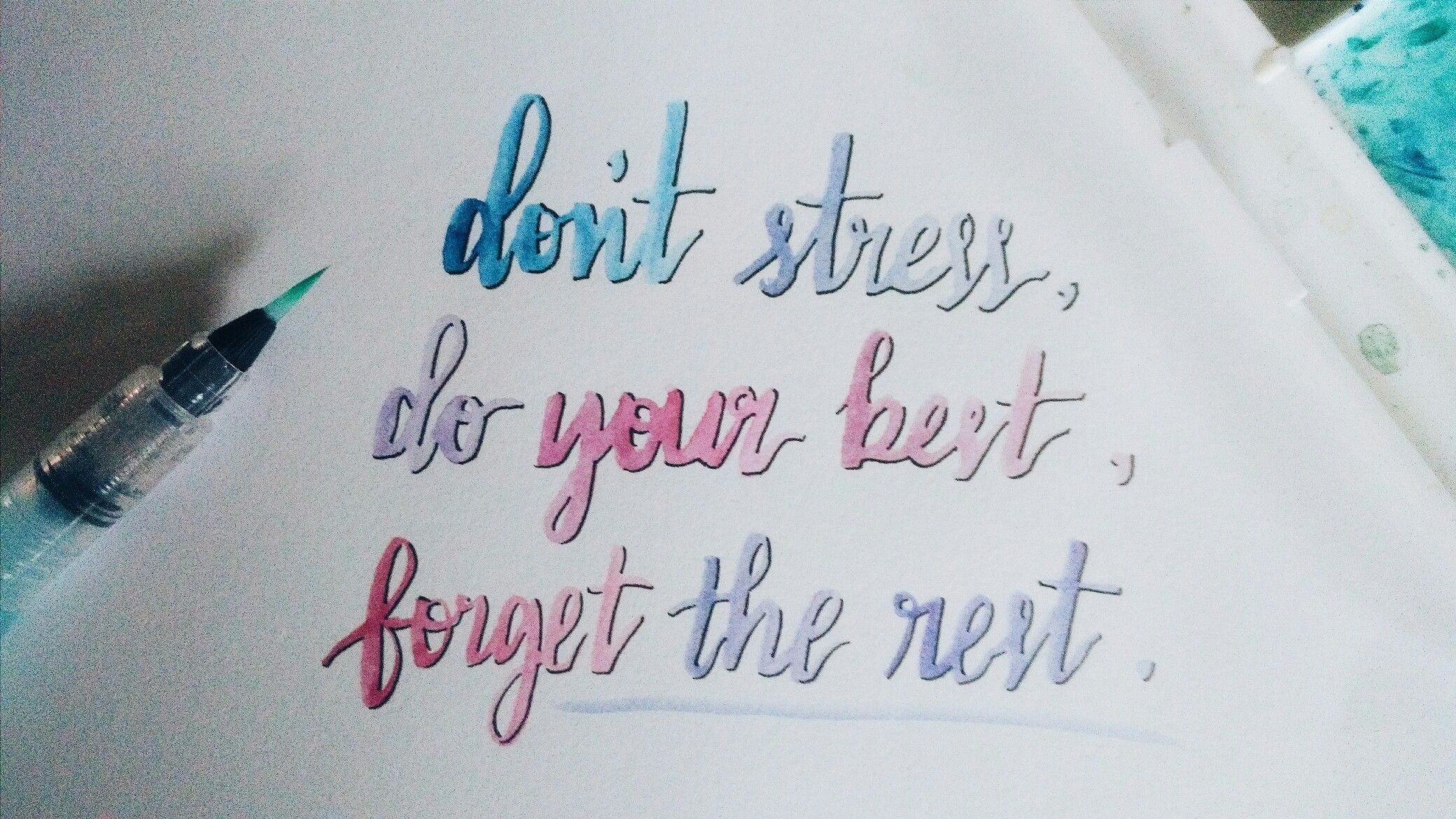 Calligraphy Quotes Study Exam Motivational Good