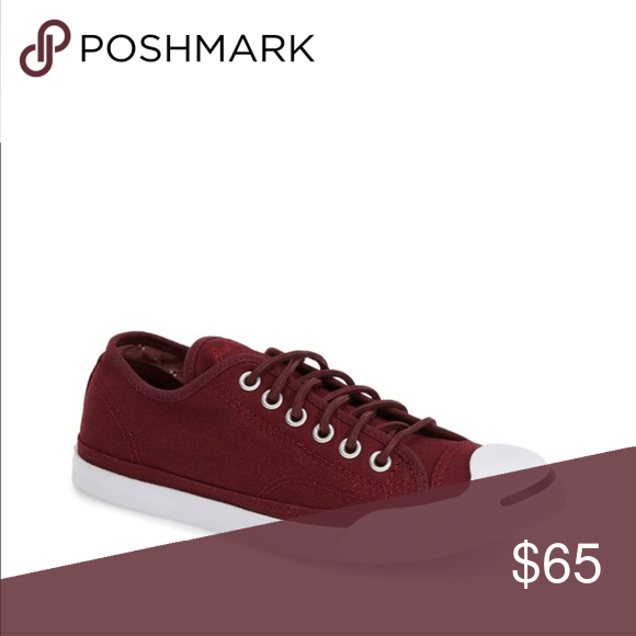 e1184ef41460 Women s Converse Jack Purcell EUC · burgundy canvas · white rubber soles ·  only worn once! Size 7.5 Converse Shoes Athletic Shoes