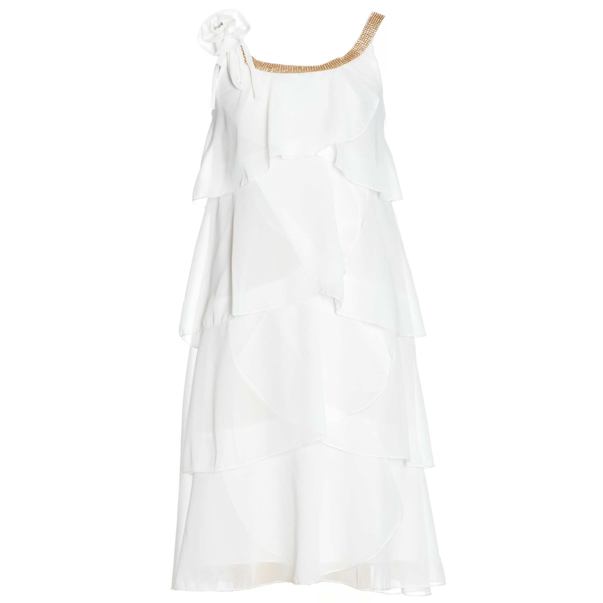 Robe A Volants Details Strass Fille Adolescente 25 00 Robe Soiree Fille Soiree Filles Robe A Volant
