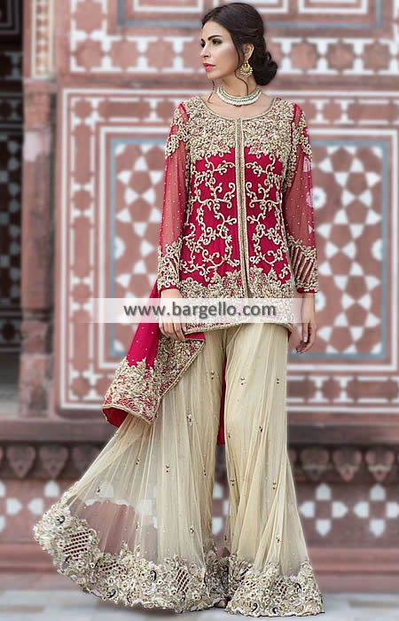 a963878d835d Modern Style Sharara for any Event This bridal dress is a classic wedding  dress choic
