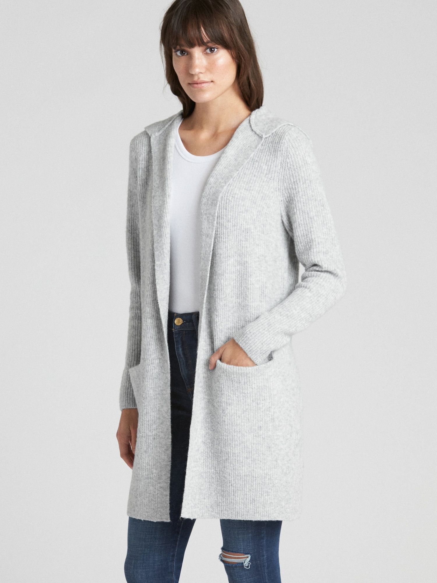 238ba756e57 Textured Open-Front Hooded Cardigan Sweater | Gap | • outfit ...