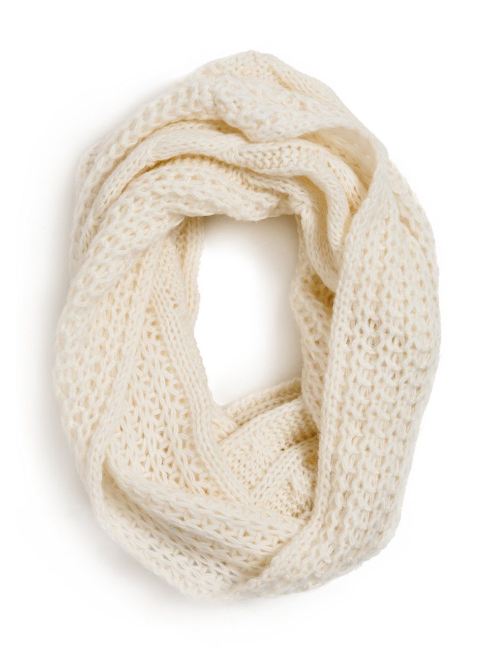 GUESS by Marciano Knit Infinity Scarf, CANVAS WHITE