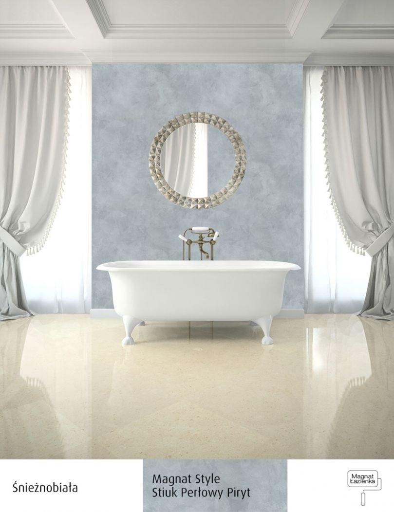 Tynk Dekoracyjny W Białej łazience łazienka Inspiracje W