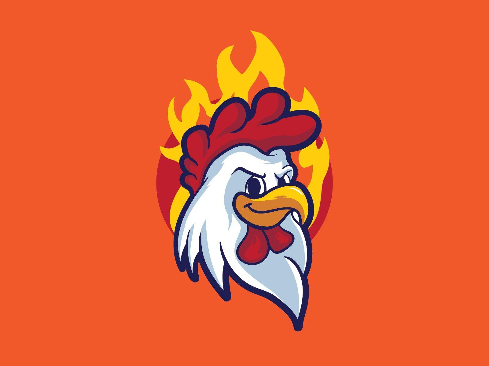 Chicken Head Mascot Chicken Logo Logo Design Art Mascot Design