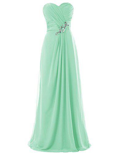 e578e7d7ed59 Dresstells Long Chiffon Dress with Beadings Bridesmaid Dresses Wedding Dress  Mint Size14 Dresstells ...