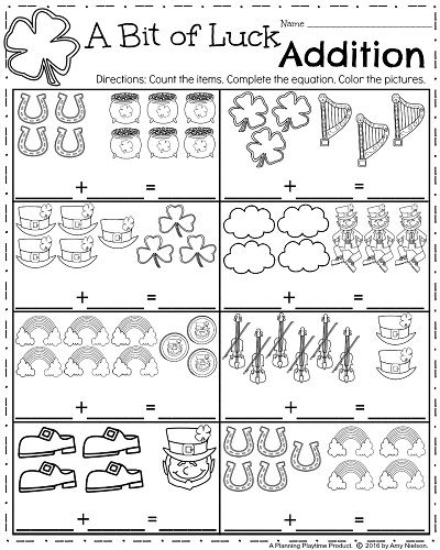 March Kindergarten Worksheets | Kind