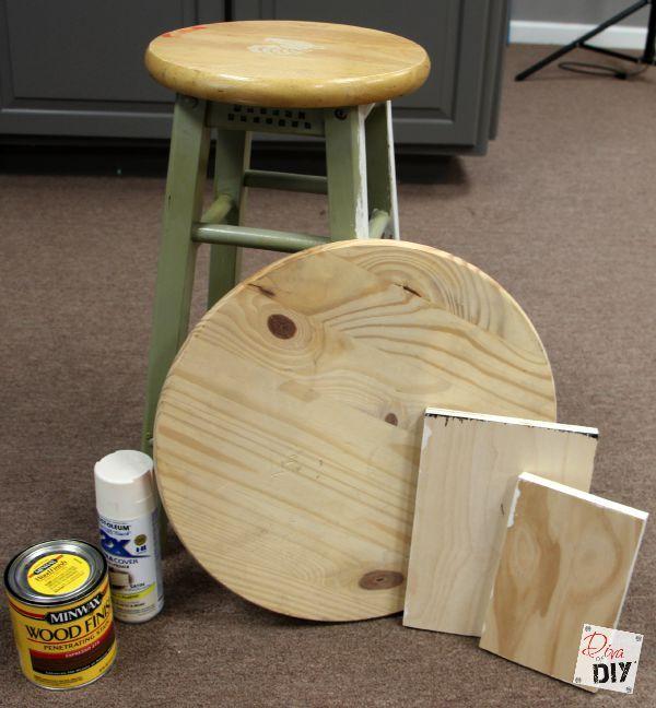 bar stool makeover DIY Pinterest Petit meuble, Meubles et