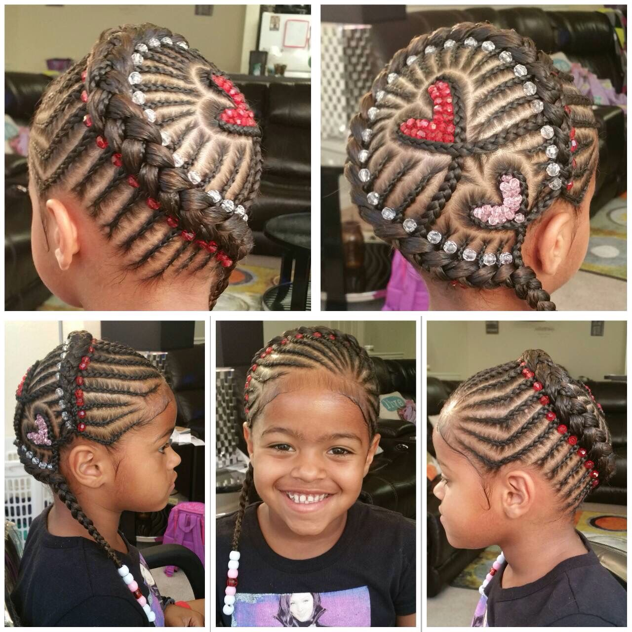 Heart Braid With Beads African Braids Hairstyles Kids Hairstyles