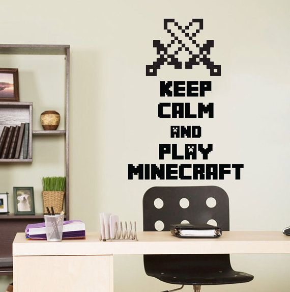 Minecraft Wall Decal Crossed Swords Wall Art by VinylWallArtworks, $20.99