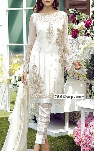 17a24a40f172 Off-white Chiffon Suit | Buy Jazmin Pakistani Dresses and Clothing online  in USA, UK