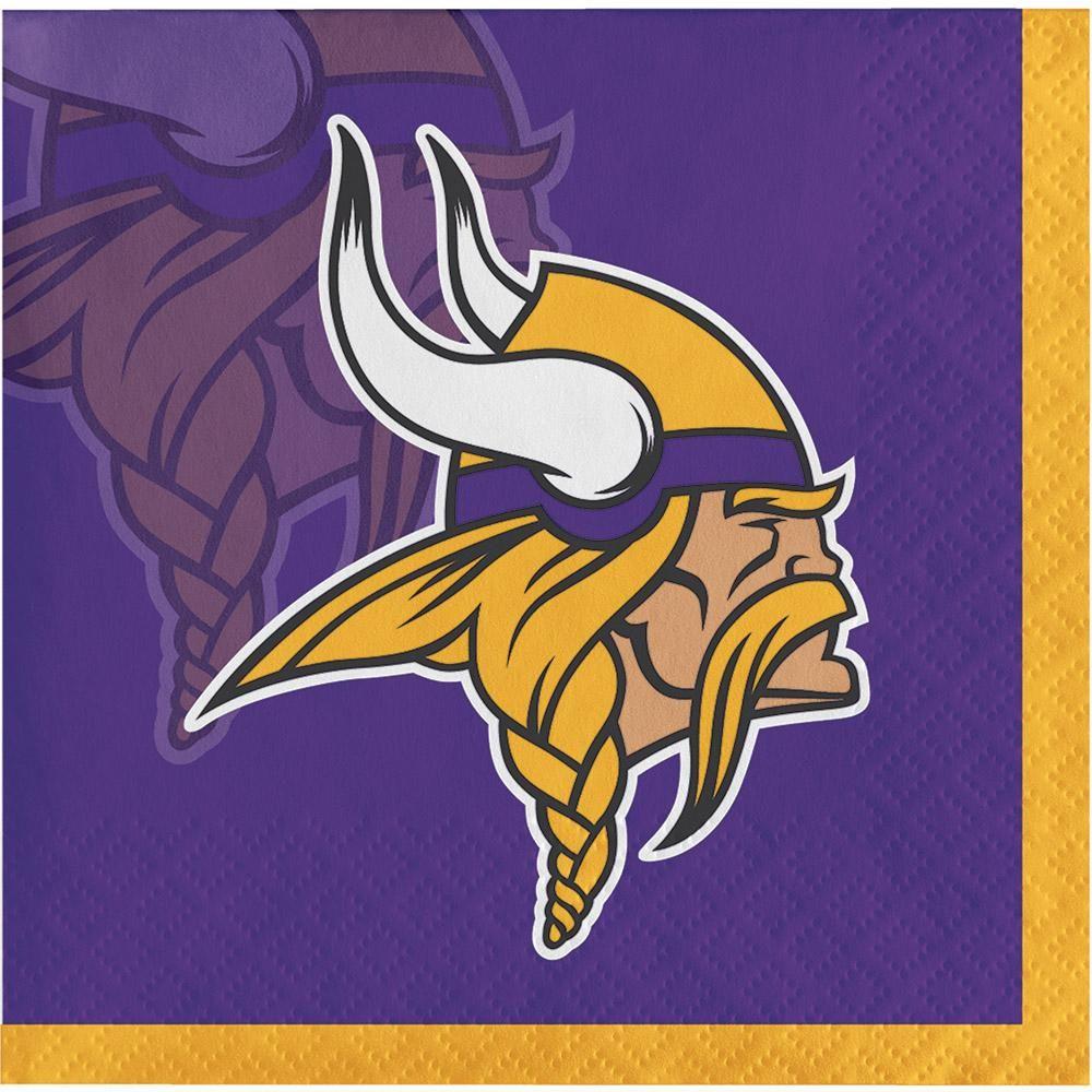 Minnesota Vikings Beverage Napkin, 2 ply (192/case