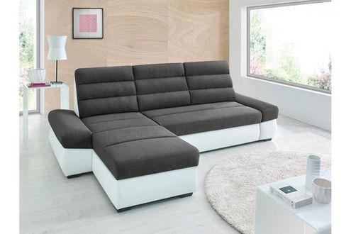 Sofa Story Canapé d\'angle convertible BIMBO Gris anthracite / blanc ...