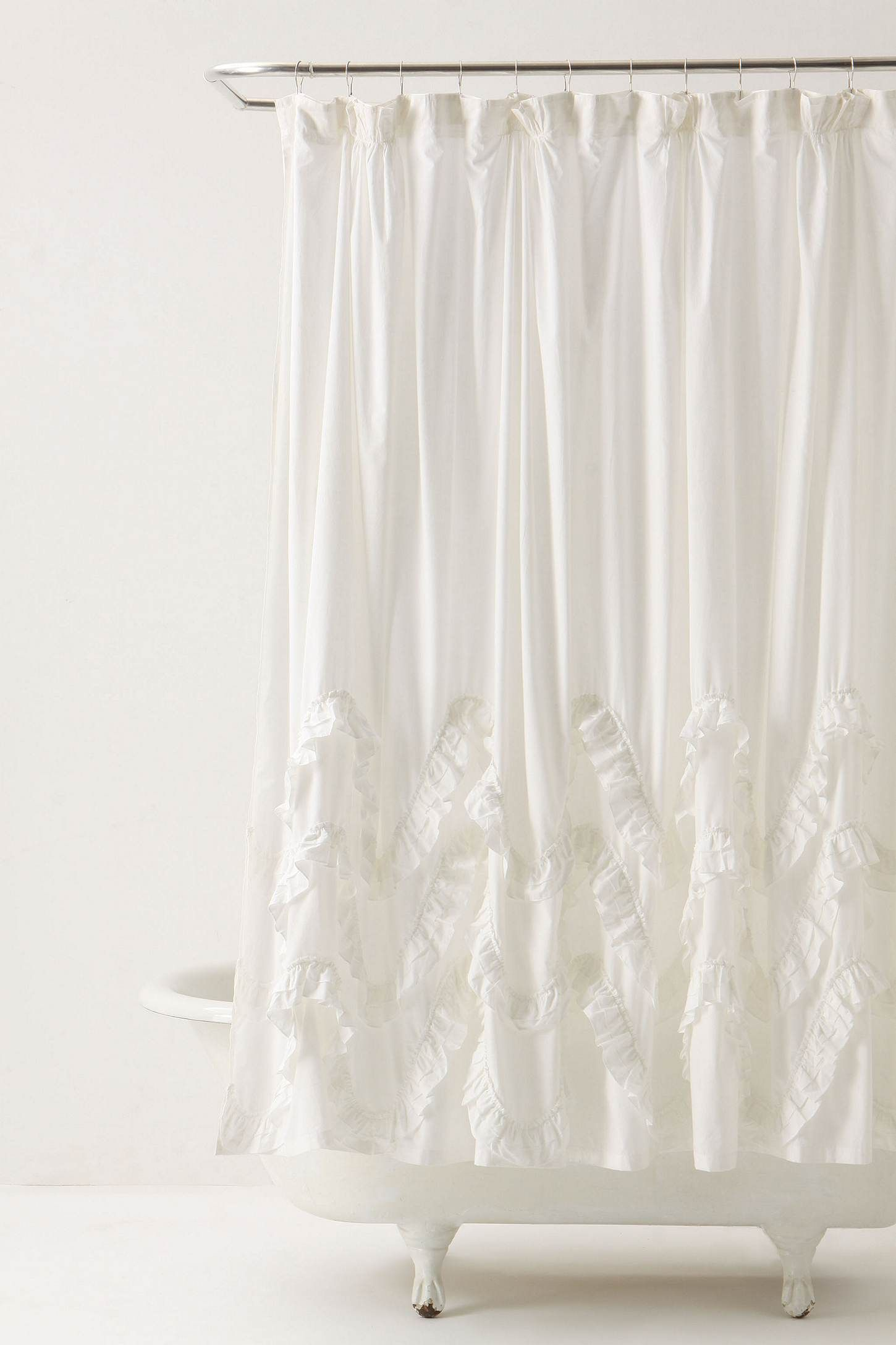 Waves Of Ruffles Shower Curtain With Images Ruffle Shower