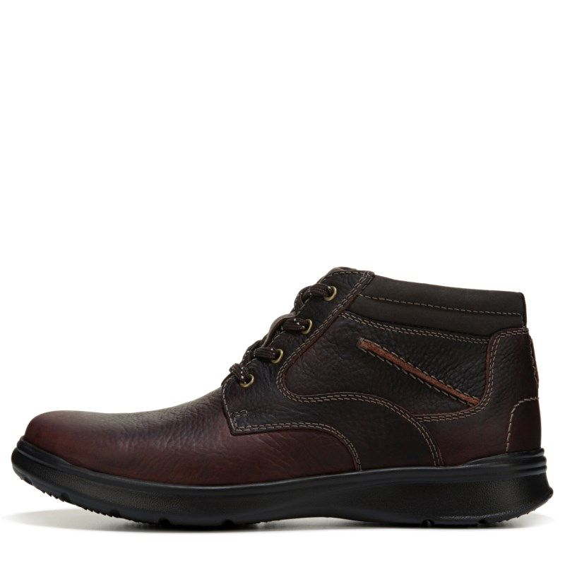 Clarks Men's Cotrell Rise Medium/Wide Chukka Boots (Brown Oily Leather)