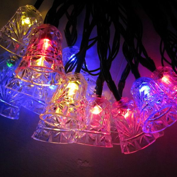 Outdoor Holiday Light 48M 20LEDs Colorful Decoration Bells Garland
