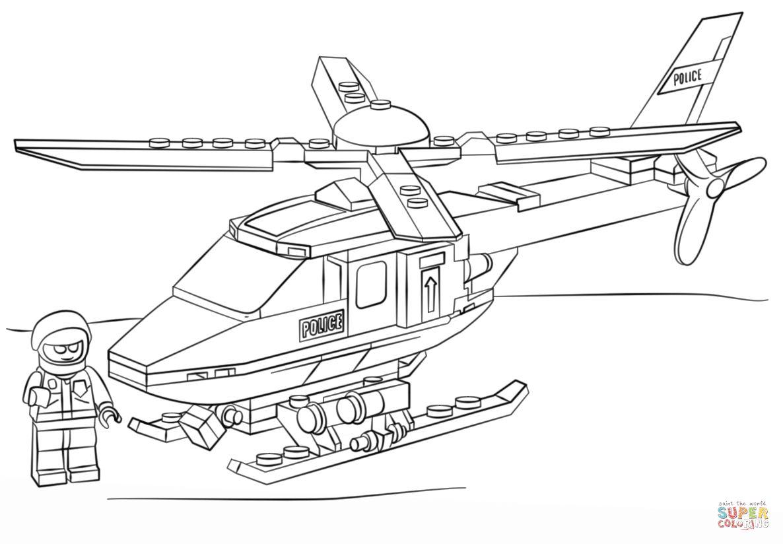 Coloriage Avion Lego City.Coloriage Helicoptere De Police Lego Coloriages A