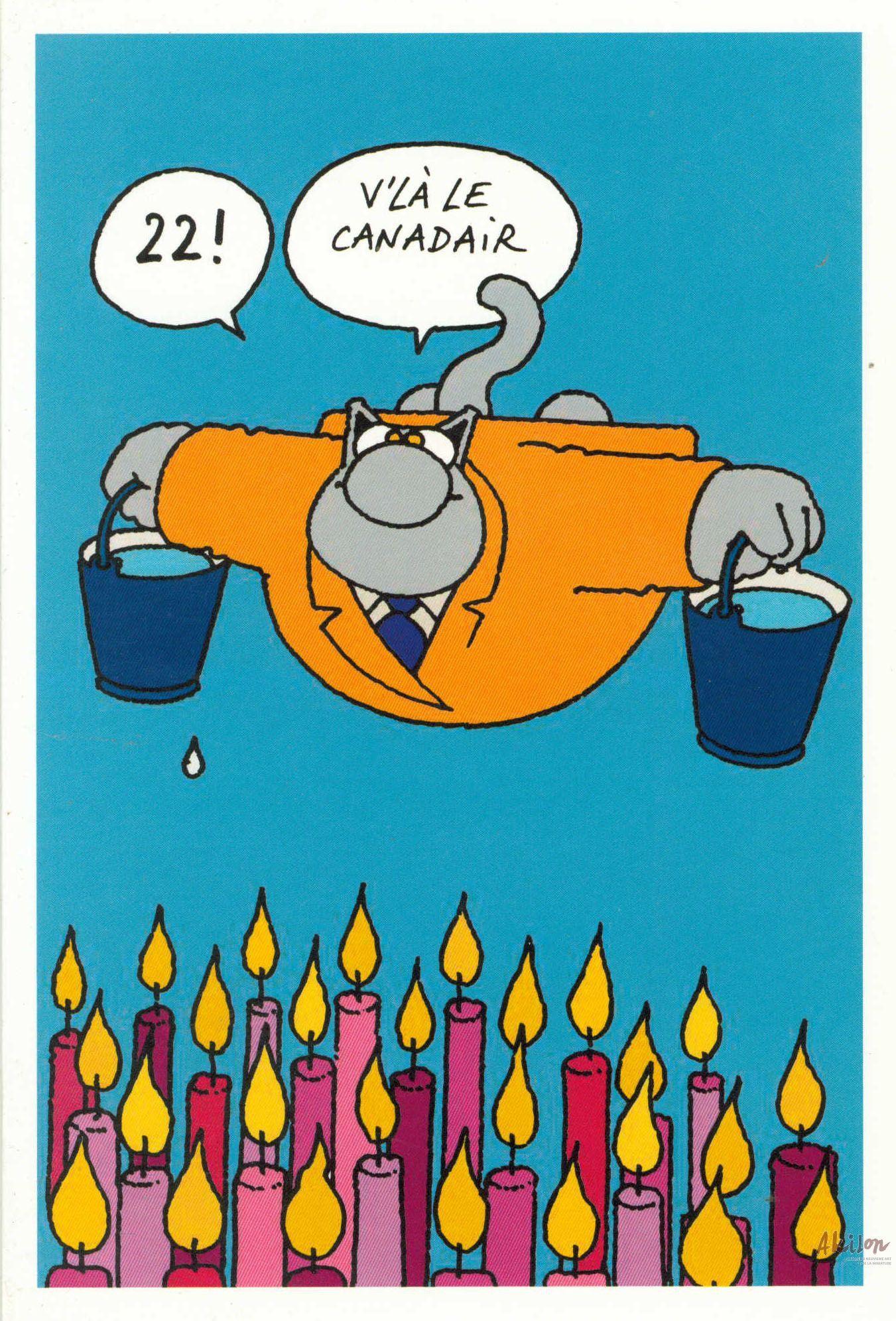 R sultat de recherche d 39 images pour anniversaire geluck le chat anniversaire birthday - Carte anniversaire simpson ...