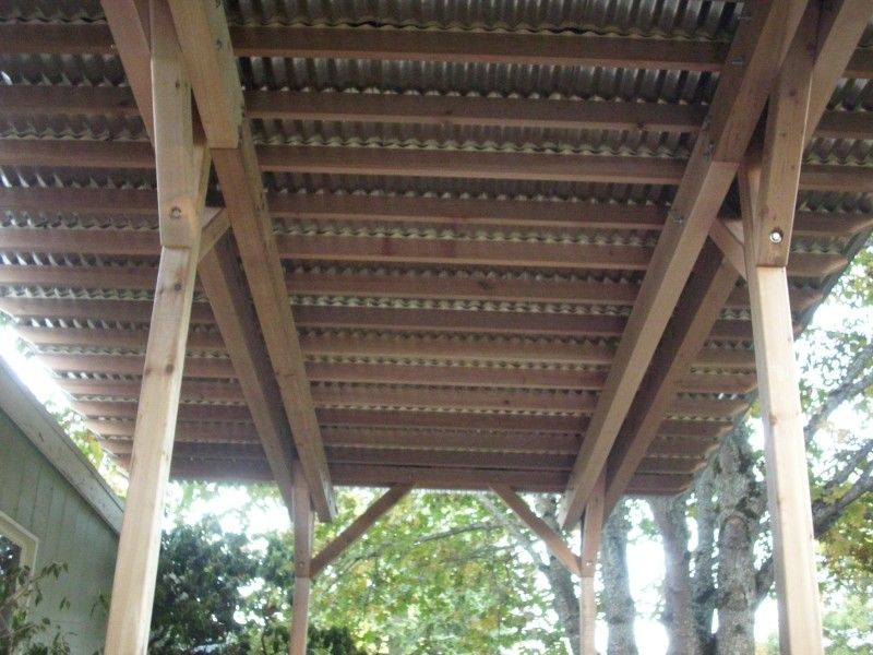 how to build a corrugated metal patio cover