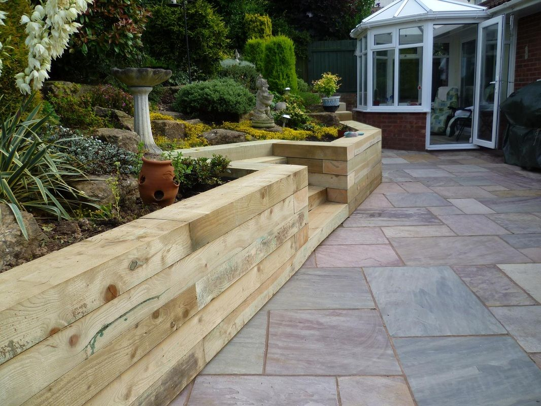 timber retaining wall Google Search Timber retaining walls and
