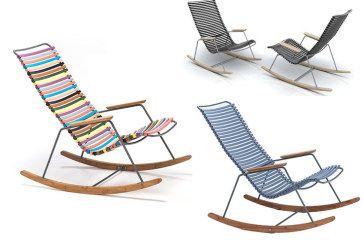 Schommelstoel Voor Buiten Te Koop.Click Rocking Chair Van Houe Lekker Buiten Zitten In Een