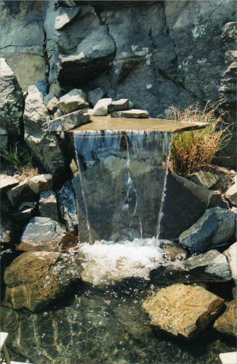 pool side sheer descent Rockmass waterfall-Cortland Manor | Fontaine ...