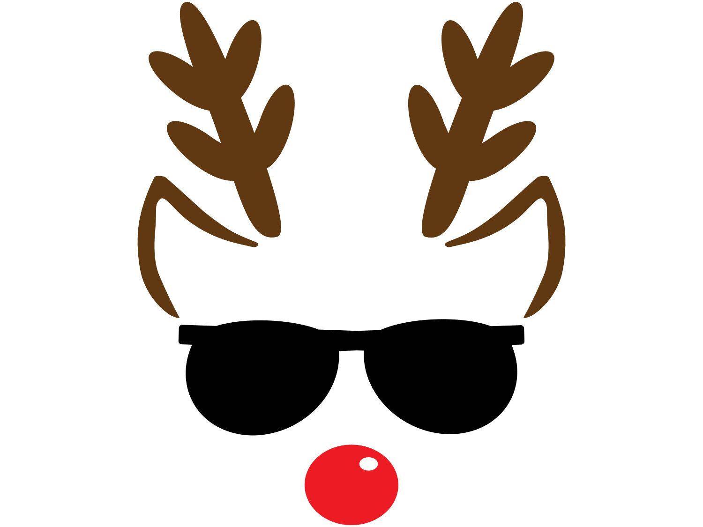Winter Holiday Christmas Clip Art Reindeer Face With Etsy Christmas Clipart Christmas Drawing Reindeer Face