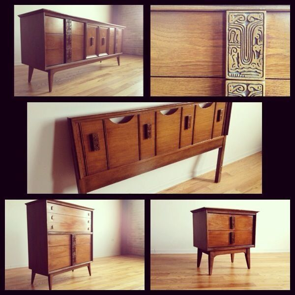Very Unique Mid Century Modern Bedroom Set From The Mayan