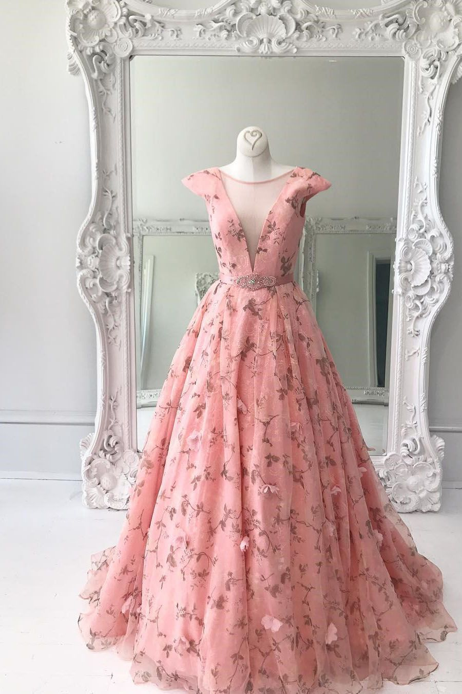 Princess Pink Long Prom Dress Ball Gown | 2k17 homecoming dresses ...