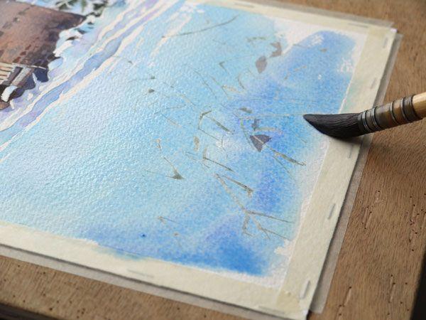 Neige Et Masure Pas A Pas A L Aquarelle Cours De Peinture A L