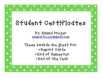 Award Certificates for Students $3.00- celebrate every student with 9 different awards and invitations for award ceremonies!