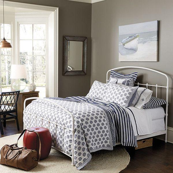 Ballard Designs Lorraine Metal Bed Queen ($499) ❤ liked on Polyvore ...