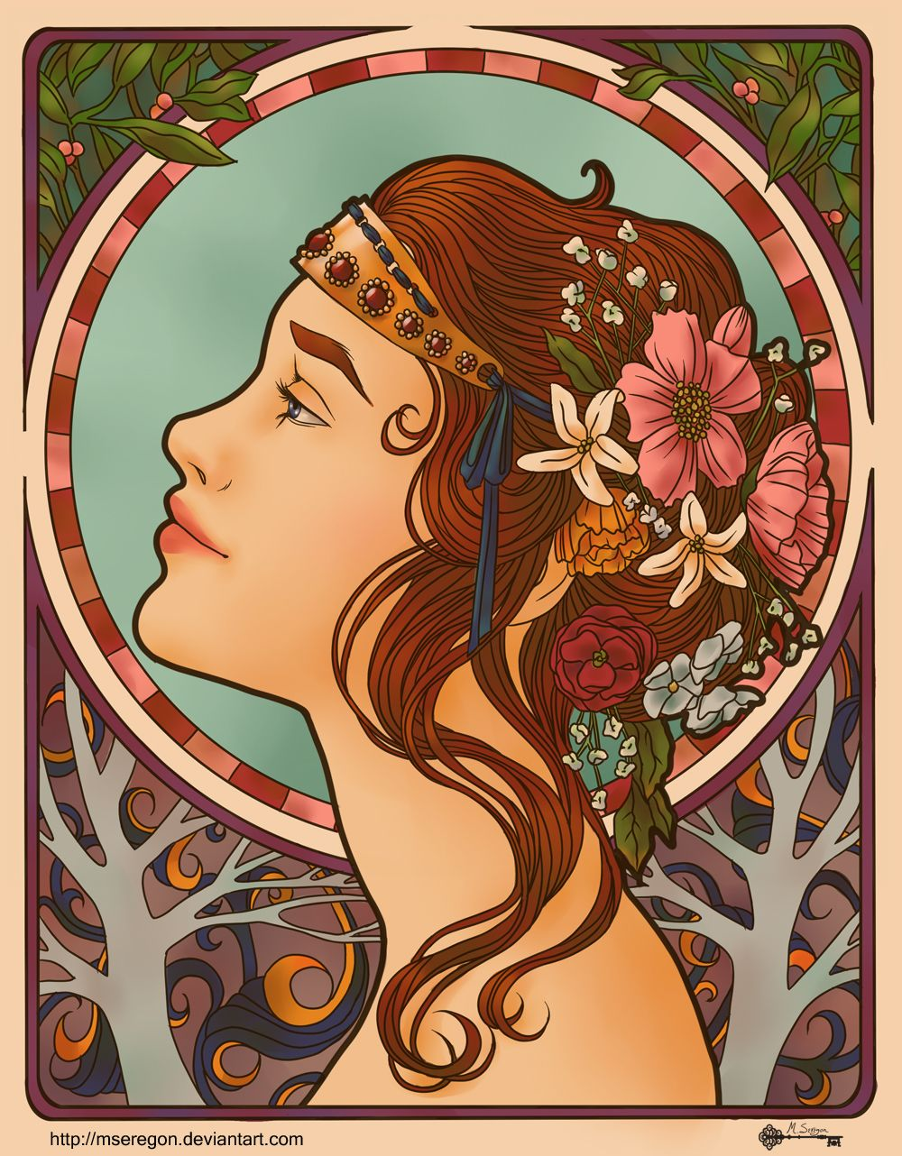 Jugendstil Kunst Art Nouveau Attempt 1 By Mseregon Deviantart On Deviantart