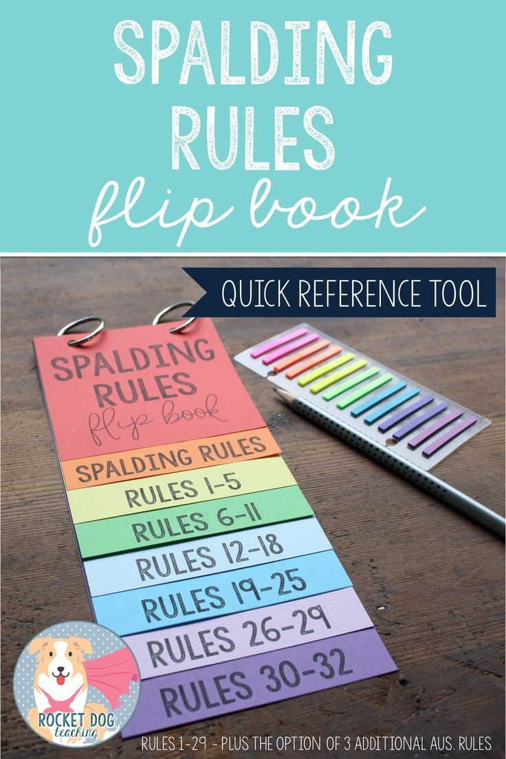 Spelling Rules Flip Books Spelling rules, Phonics rules