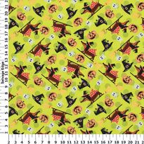 Happy Halloweiners - M'Liss Happy Halloweiners Cotton Fabric