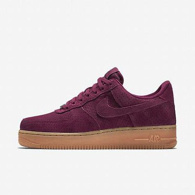 huge selection of f8c37 baec8 Nike Air Force 1  07 Suede Womens 749263-600 Deep Garnet Shoes Sneakers  Size 12