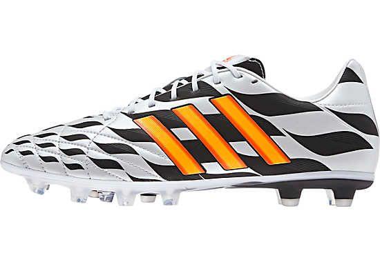 pretty nice 9f4e4 fe91f adidas 11Pro FG Soccer Cleats - White and Neon Orange...at SoccerPro now.