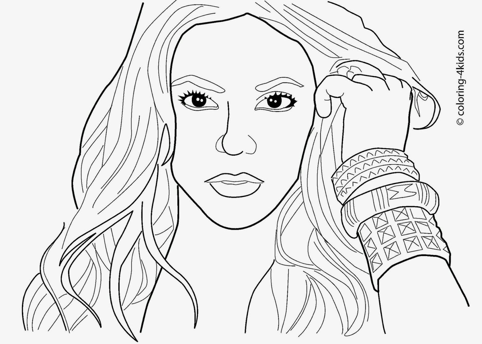 celebrity coloring pages free coloring pages - Celebrity Coloring Pages Print
