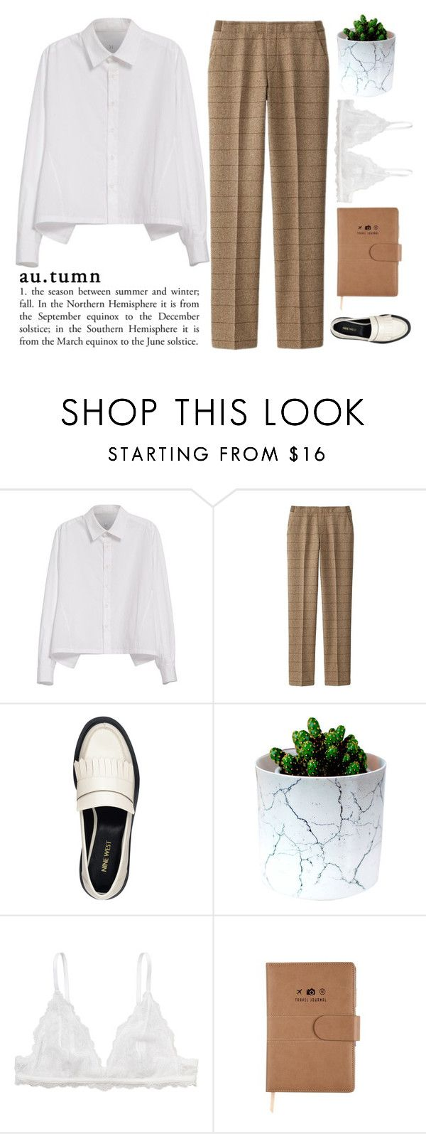 """The color of this autumn"" by holly-k15 ❤ liked on Polyvore featuring Y's by Yohji Yamamoto, Uniqlo, Nine West and Monki"