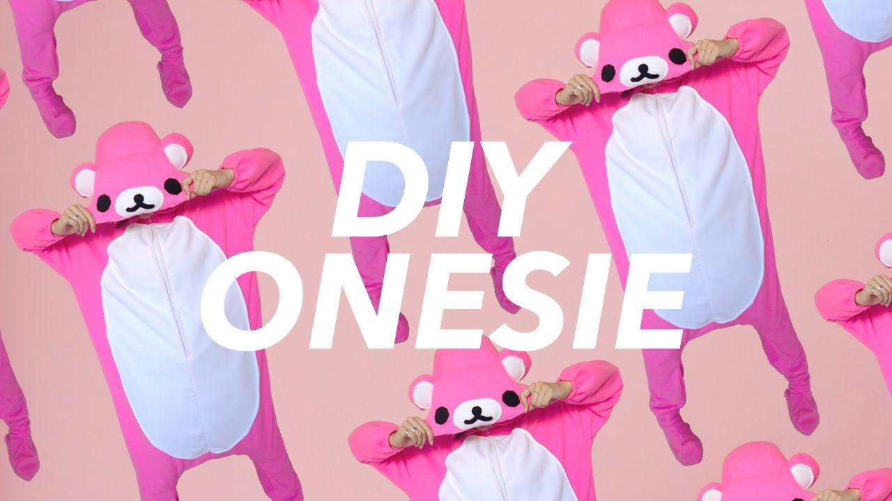 How to Make a Footed Onesie! (Kigurumi Rilakkuma style) (YouTube ...