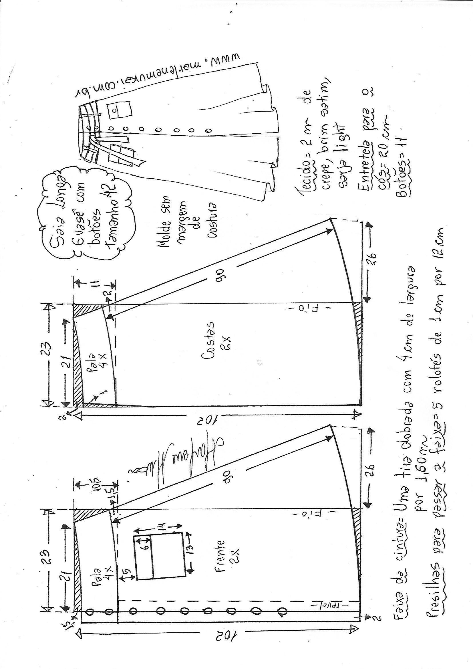 Pin de Mayor en Skirt pattern | Pinterest | Costura, Patrones de ...