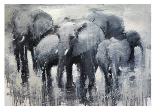 Peter Hall African Wildlife Animal Art Save The Elephants