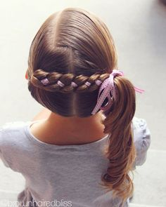 """Angie Smith on Instagram: """"I did this style again on big sis today…it's her favorite. I'll share a video later today :). 💜💜 #instabraid #cutegirlhairstyles…"""""""