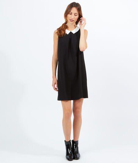 robe col claudine eclelia noir blanc etam mode pinterest robe col claudine col. Black Bedroom Furniture Sets. Home Design Ideas