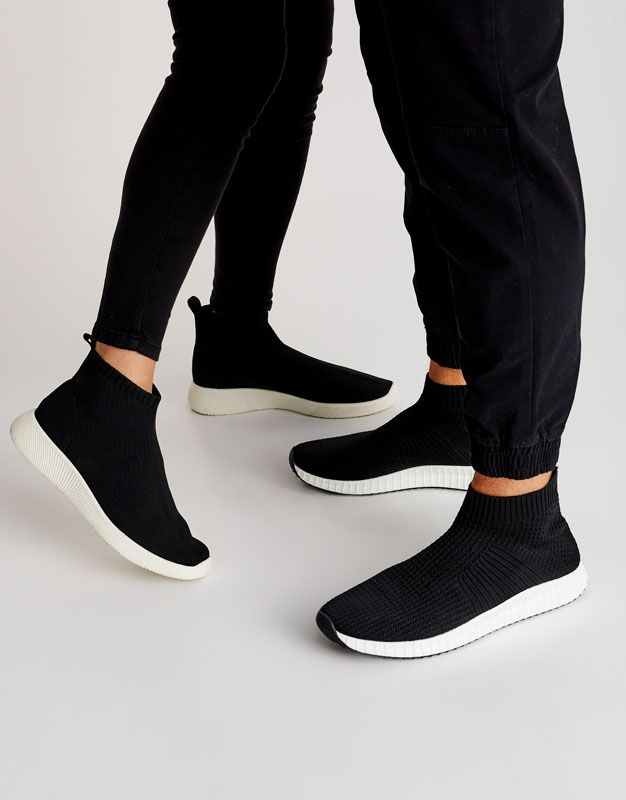 Fabric Sock Style Sneakers See All Shoes Woman Pull Bear United Kingdom Fashion Socks Women Shoes Shoes