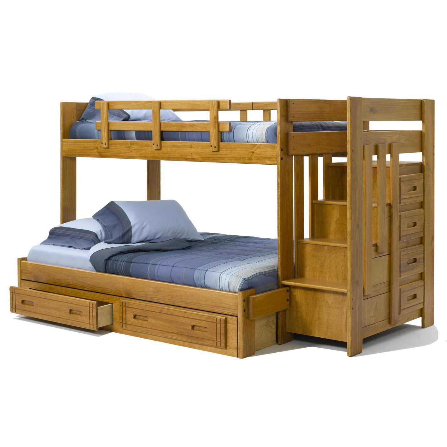 Lakeland mills twin over queen bunk bed amp reviews wayfair - Diy Woodworking Twin Bed My Little Lady Is Maturing Too Quickly It S Time For Her