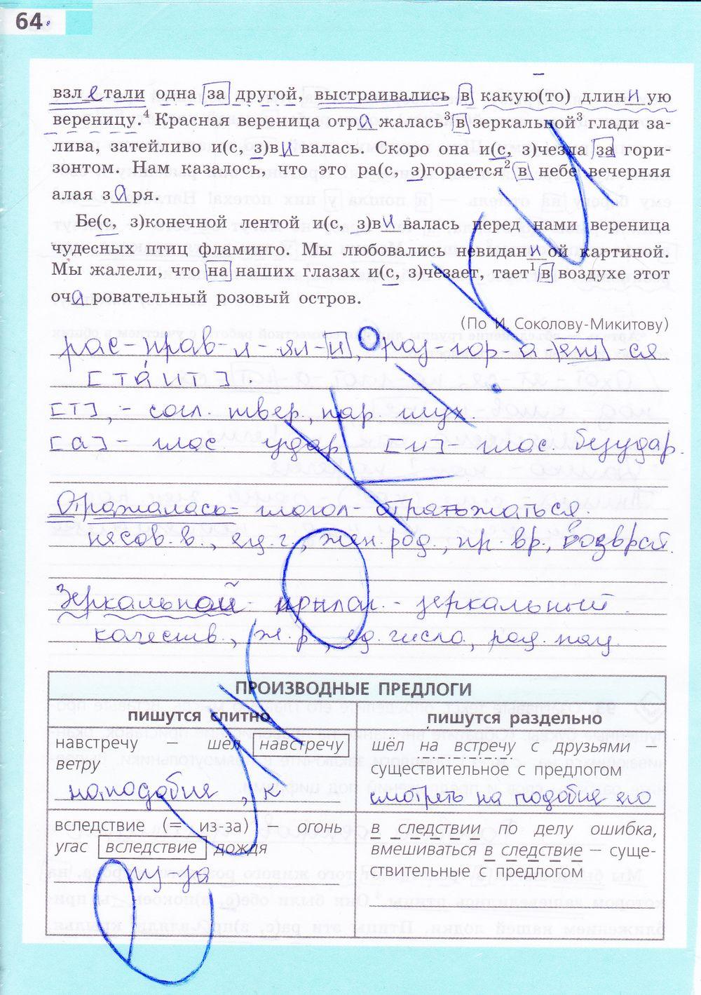Гдз по рабочей тетради по русскому языку за класс